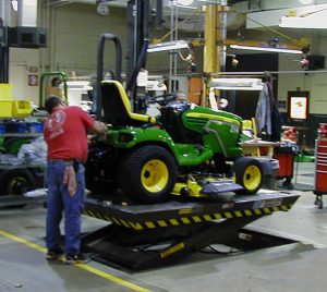 John Deere on Lift Table