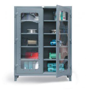 see thru door storage cabinet