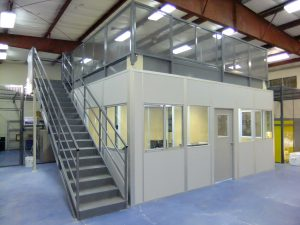 Modular Office with Mezzan