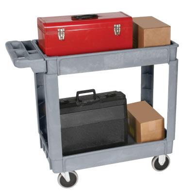 wesco 2 shelf service cart