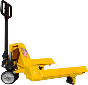 Pallet Mule's Roll and Reel pallet jack
