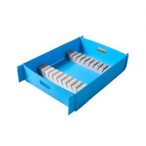 foam in plastic corr tray