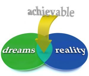 Achievability is found between dreams and reality