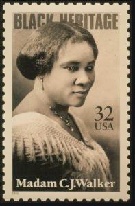 Madam CJ Walker on Stamp